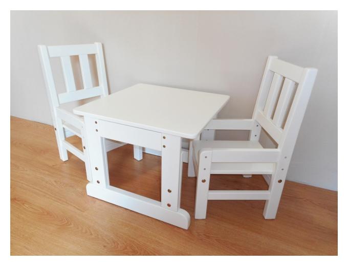 Laste laud ja toolid puidust