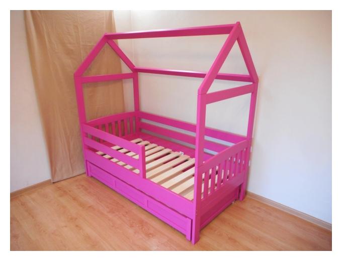 Lastevoodi - majavoodi värviline fuksia roosa